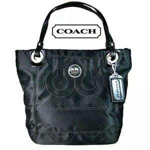 COACH Alex quilted black tote bag 14276